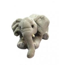 Мягкая игрушка «Слонёнок лежащий», LEOSСO, серый, 23 см, 4028667185522