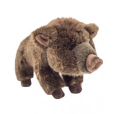 Игрушка мягконабивная «Дикий боров» Leosco, коричневый, 21 см