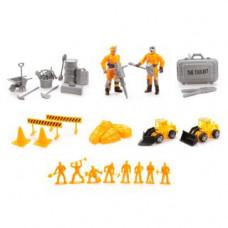 Игровой набор «Строители», 10 фигурок, 2 техника, 26 аксессуаров Наша игрушка
