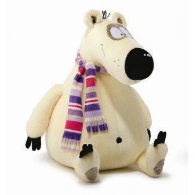 Мягкая игрушка «Медведь Топа» Fancy (Фэнси) бежевый с цветным шарфом, 54 см, МТП2V