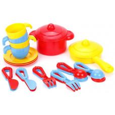 Набор детской посуды TOP chef с корзинкой №2 на 4 персоны Полесье 42651