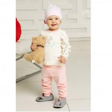 """Розовые штанишки """"Слоники"""" для новорождённой"""