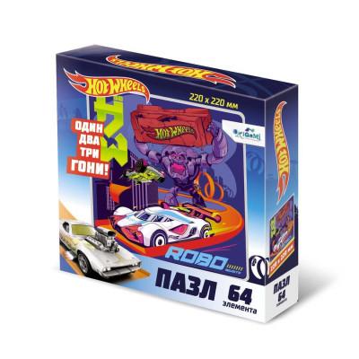 Пазл Hot Wheels «Роботы» 64 элементов Оригами 5905