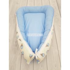 "Кокон гнездышко для новорожденного ""Мороженое"" мод.23 КН-23"
