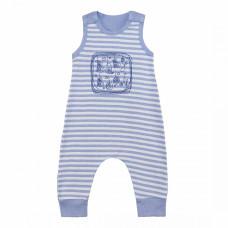 Полукомбинезон голубой в полоску с рисунком для новорожденного Baby Boom рибана Юлла 663р ап