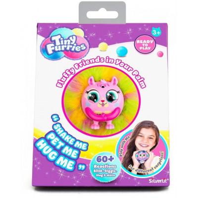 Интерактивная игрушка Пушистик Tiny Furries Chips, Silverlit, желто-розовый, 8 см, 83690_3