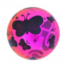 Мяч детский 22 см, Бабочки неон, в ассорт.