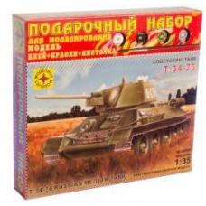 Модель для сборки Танк  Т-34-76 обр. 1942 г.