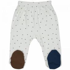 Ползунки для новорожденных белые Prince and Princess интерлок Юлла 553и/пр