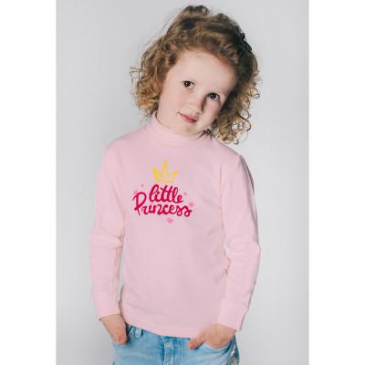 Водолазка розовая little princess рибана для девочки Юлла 537700201