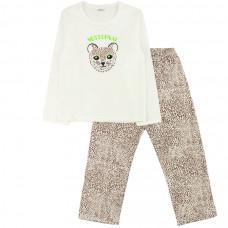 Пижама бежевая для девочки Юлла интерлок 279200201