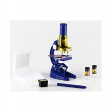 Микроскоп детский в наборе, 3 объектива, фокусировка, зеркало, коробка
