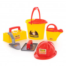 """Игровой набор инструментов каменщика №5 """"Construct"""" (7 элементов) Полесье 50199"""