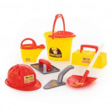 """Игровой набор инструментов каменщика №7 """"Construct"""" (8 элементов) Полесье 50632"""