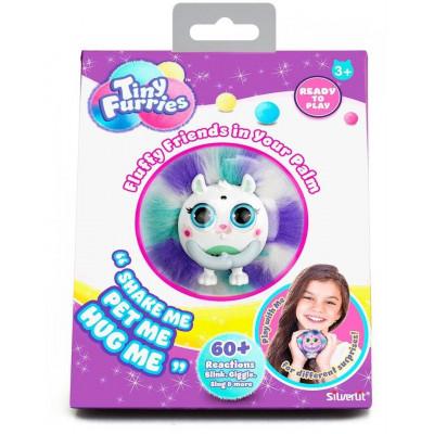 Интерактивная игрушка Пушистик Tiny Furries Honey, Silverlit, сине-белый, 8 см, 83690_4