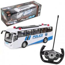 Автобус р/у Полиция, 4 канала, со светом, аккумуляторный, USB шнур, элемент питания АА*2шт.не входят в комплект, коробка