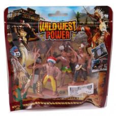 Набор фигурок индейцев 4 шт Дикий Запад Наша игрушка