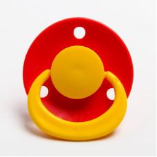 Соска-пустышка латексная классическая «Ягодка» с кольцом, от 0 мес., цвета МИКС