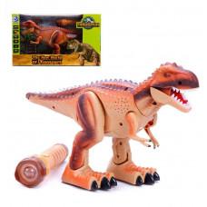 Динозавр р/у, 1 канал, свет, звук, проектор, пульт в виде фонарика, эл.пит.AA*5шт. не вх.в комплект