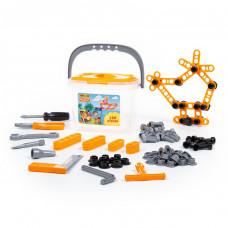 Детский набор инструментов Полесье в ведёрке (129 элементов) Wader Quality toys