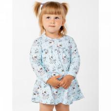Платье-боди голубое с зайчиками интерлок Юлла 1039203401