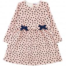 Платье розовое в горошек интерлок Юлла 1112200101