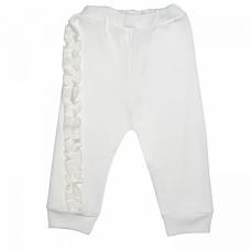 Штанишки белые для новорожденной девочки с рюшами Зефир интерлок Юлла 792и од