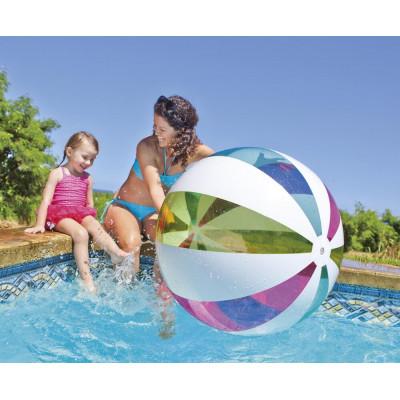 Большой надувной мяч Радужный 107 см