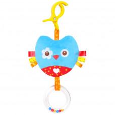 """Мягкая игрушка-подвеска """"Шумякиши"""" - Сова, разноцветная, с погремушкой 349"""