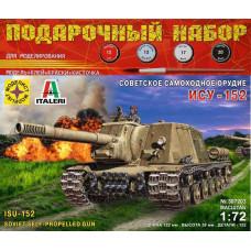 Модель для сборки Советская самоходная артиллерийская установка ИСУ-152 Зверобой  1:72