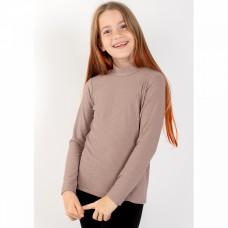 Водолазка коричневая для девочки вискоза Юлла 1264900104