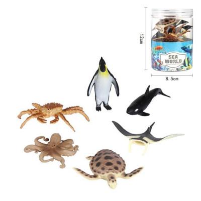 Морские животные, 6 шт, туба НАША ИГРУШКА 800692