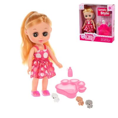 Кукла Лилли 16 см с питомцами, в компл. 5 предм., кор.