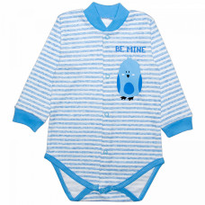 Боди для новорожденных в полоску Be Mine с птичкой интерлок Юлла 077и/п ап