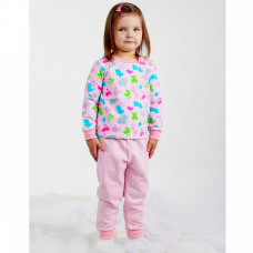 Пижама розовая футер для девочки Юлла 1087300101