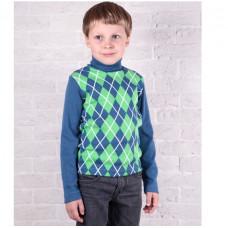 Водолазка кашкорсе для мальчика синяя Юлла 63400903