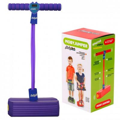 Тренажер для прыжков со счетчиком, светом и звуком MobyJumper, фиолет.