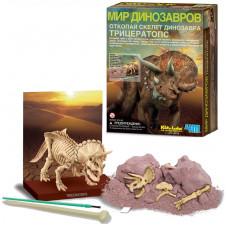 Набор 4M «Откопай скелет динозавра: Трицератопс»