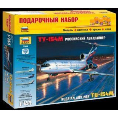 Модель для сборки Пасс авиалайнер Ту-154