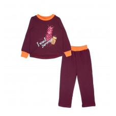 """Пижама для девочек """"Pineapple"""", цвет: красный"""