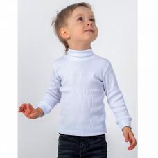 Водолазка кашкорсе для мальчика, белая