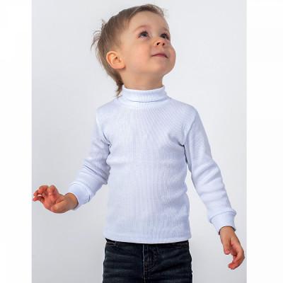 Водолазка кашкорсе для мальчика, белая 634005