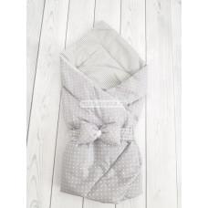 """Конверт-одеяло на выписку """"Малыш"""" """"Серый горошек"""""""