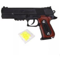 Пистолет механический, в комплекте: пластмассовые пули пакет 1 шт, 66552