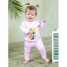 """Розовые штанишки """"Ладошки"""" для новорождённой девочки"""