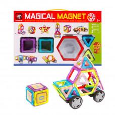 Конструктор магнитный 3D 40 деталей, с колесами