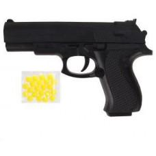 Пистолет механический, в комплекте: пластмассовые пули пакет 1 шт, 66526