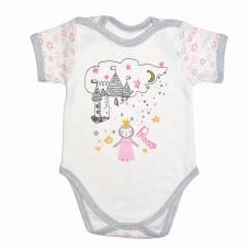 Боди с коротким рукавом для новорожденных Королевство интерлок Юлла 449и ком. Ап