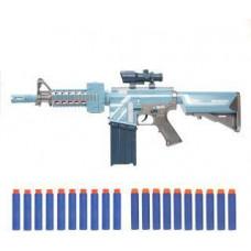 Бластер Эл с Мягкими пулями, 20 м/пуль, элемент питания АА*5 шт не входит в комплект 61768