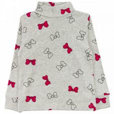 Джемпер серый с бантиками кашкорсе для девочки Юлла 63400302